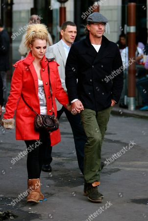 Britney Spears, Jason Trawick U.S. performer Britney Spears, left, and her boyfriend Jason Trawick are seen in central Kiev, Ukraine