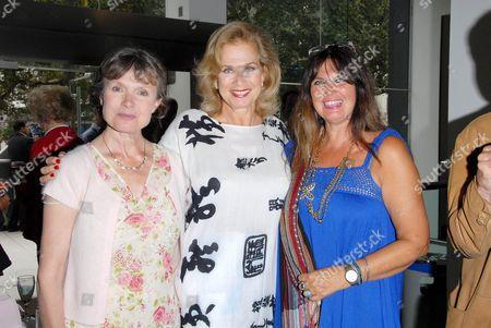 Madeline Smith, Valerie Leon and Caroline Munro, all former Bond Girls.
