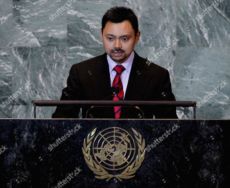 Haji Al-Muhtadee Billah Crown Prince of Brunei Darussalam, Prince Haji Al-Muhtadee Billah, addresses the 66th session of the United Nations General Assembly