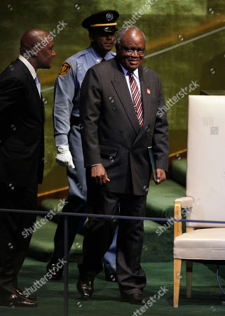 Hifikepunye Pohamba President of Namibia, Hifikepunye Pohamba, arrives to address the 66th session of the United Nations General Assembly, at U.N. headquarters