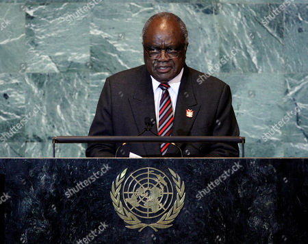 Hifikepunye Pohamba President of Namibia, Hifikepunye Pohamba, addresses the 66th session of the United Nations General Assembly, at U.N. headquarters