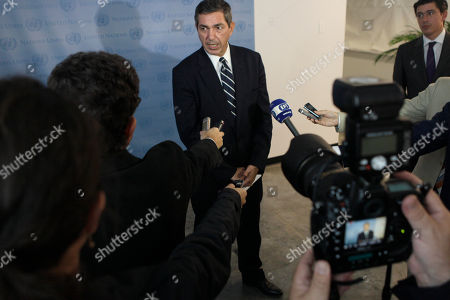 Stavros Lambrinidis Stavros Lambrinidis, Minister for Foreign Affairs of Greece, speaks to reporters after a meeting with United Nations Secretary-General Ban Ki-moon, at the United Nations' headquarters