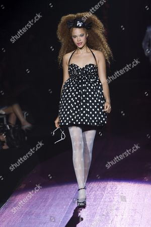 Stock Picture of Sabina Karlsson on catwalk