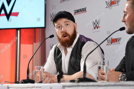 Stock Photo of Sheamus during press conference