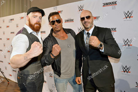 Sheamus, Tim Wiese and Antonio Cesaro during press conference