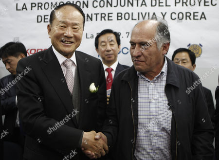 Lee Sang-deuk, Jose Pimentel South Korea's lawmaker Lee Sang-deuk, left, shakes hands with Bolivia's Mining Minister Jose Pimentel after a meeting in La Paz, Bolivia, . Lee Sang-deuk, brother of South Korea's President Lee Myung-bak, is on a one-day official visit to Bolivia