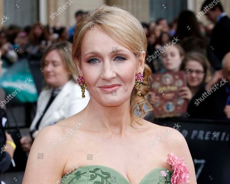 """JK Rowling British author JK Rowling arrives in Trafalgar Square, in central London, for the World Premiere of """"Harry Potter and The Deathly Hallows: Part 2,"""" the last film in the series. This fall, British writer J.K. Rowling plans to make her one and only in-person appearance in the U.S. to promote her first novel for adults. The """"Harry Potter"""" author will discuss """"The Casual Vacancy"""" at New York's Jazz at Lincoln Center on Oct. 16. The venue can seat about 1,100 people. Little, Brown and Company announced, that Rowling will be interviewed on stage by fellow author Ann Patchett and will take """"select"""" audience questions"""