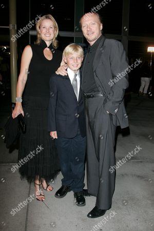Paul Haggis, wife Deborah Rennard and family