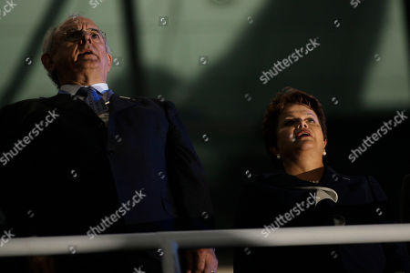 Nelson Jobim, Dilma Rousseff Brazil's President Dilma Rousseff, right, and her Defense Minister Nelson Jobim attend the opening ceremony of the fifth World Military Games in Rio de Janeiro, Brazil, . The Military Games will be held from July 15 to 24