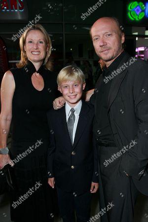 Deborah Rennard, James and Director/Writer Paul Haggis