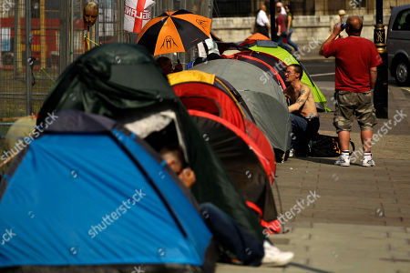 Editorial picture of Britain 10 Year Protest