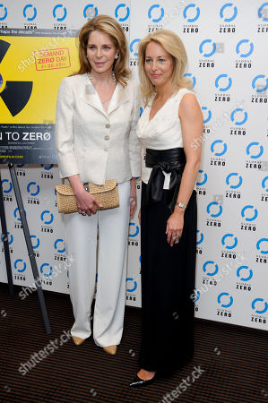HM Queen Noor of Jordan, Valerie Plame Wilson HM Queen Noor of Jordan and former U.S. CIA Operations Officer, Valerie Plame Wilson arrive for the UK film premiere of Countdown to Zero at a central London venue