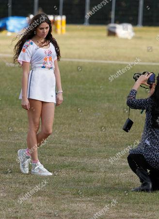 Eliza Dolittle Eliza Dolittle poses backstage at the Isle of Wight music festival