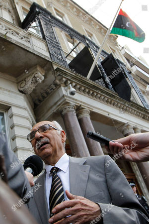 Magnus Nacua Libya National Transitional Council new Charge d'Affairs to United Kingdom Mahmud Nacua speaks to the media outside the Libyan Embassy in London, . World leaders said Monday the end is near for Moammar Gadhafi's regime and began looking at Libya's future without the man who has held power there for 42 years
