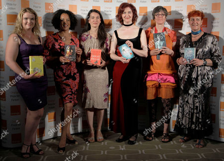 Emma Donoghue, Aminatta Forma, Emma Henderson, Nicole Krauss, Tea Obreht, Kathleen Winter Shortlisted authors, from left, Tea Obreht, Aminatta Forma, Nicole Krauss, Emma Donoghue, Kathleen Winter and Emma Henderson pose with their books before the announcement of the 2011 Orange Prize for Fiction, during the awards ceremony at the Royal Festival Hall in London
