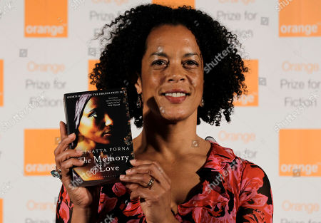 Stock Picture of Aminatta Forna Shortlisted British author Aminatta Forna poses with her book 'The Memory of Love' before the announcement of the 2011 Orange Prize for Fiction, during the awards ceremony at the Royal Festival Hall in London