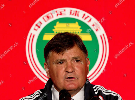Jose Antonio Camacho Jose Antonio Camacho speaks during a news conference in Beijing, China, . Former Spain coach Camacho will lead China's national team in the qualification run-up to the Brazil World Cup soccer tournament