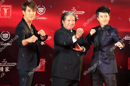 Wu Chun, Sammo Hung, Han Geng Brunei-born Taiwanese actor Wu Chun, left, Hong Kong star Sammo Hung, center, and Chinese actor singer Han Geng, right, pose on the red carpet prior to the opening ceremony of the Shanghai International Film Festival, at Shanghai Grand Theater, in Shanghai. China