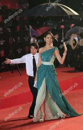 Zhang Zilin Chinese model Zhang Zilin walks on the red carpet prior to the opening ceremony of the Shanghai International Film Festival at Shanghai Grand Theater, in Shanghai. China