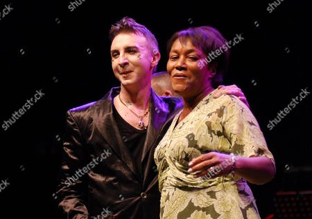 Marc Almond and Gloria Jones, widow of Marc Bolan