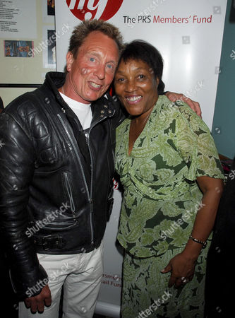 Andy Ellison and Gloria Jones, widow of Marc Bolan