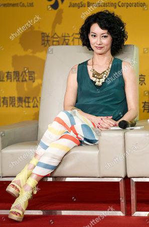 "Kara Hui Hong Kong actress Kara Hui attends a news conference of her latest movie ""Wu Xia"" in Beijing, China"