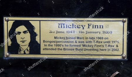 Memorial plaque to percussionist Mickey Finn