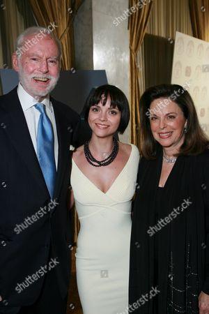 Leonard Goldberg,  Christina Ricci and Wendy Goldberg