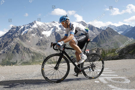 Tom Danielson of the US climbs Galibier pass during the 18th stage of the Tour de France cycling race over 200.5 kilometers (124.6 miles) starting in Pinerolo, Italy, and finishing on Galibier pass, Alps region, France