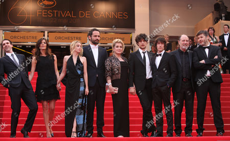 Paul Schneider, Chiara Mastroianni, Ludivine Sagnier, Rasha Bukvic, Catherine Deneuve, Louis Garrel From left, actors Paul Schneider, Chiara Mastroianni, Ludivine Sagnier, Rasha Bukvic, Catherine Deneuve, Louis Garrel and unidentified guests arrive for their film and closing ceremony at the 64th international film festival, in Cannes, southern France