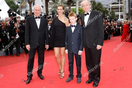 Luc Dardenne, Thomas Doret, Cecile de France, Jean-Pierre Dardenne From left, director Jean Pierre Dardenne, actors Thomas Doret, Cecile de France and director Luc Dardenne arrive for the closing ceremony at the 64th international film festival, in Cannes, southern France