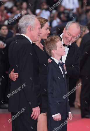 Jean-Pierre Dardenne, Cecile de France, Thomas Doret, Luc Dardenne From left, director Jean-Pierre Dardenne, actors Cecile de France, Thomas Doret and director Luc Dardenne arrive for the closing ceremony at the 64th international film festival, in Cannes, southern France