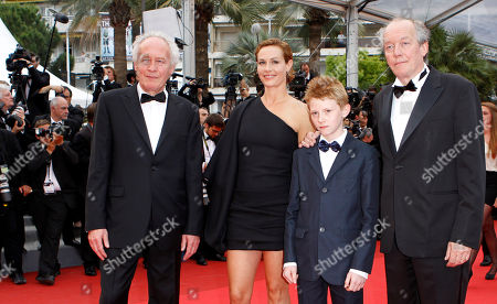 Jean-Pierre Dardenne, Thomas Doret, Cecile de France, Luc Dardenne From left, director Jean-Pierre Dardenne, actors Thomas Doret, Cecile de France and director Luc Dardenne arrive for the closing ceremony at the 64th international film festival, in Cannes, southern France