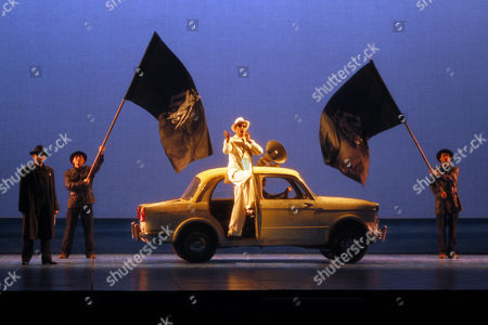 "Stock Picture of Laurent Alvaro Laurent Alvaro performs during ""Il Postino"" by the opera's late composer, Daniel Catan, at Paris' Theatre du Chatelet, in Paris, . ""Il Postino"" is adapted from the award-winning 1994 movie by Michael Radford, itself an adaptation of the novel ""Ardiente Paciencia"" by Antonio Skarmeta"