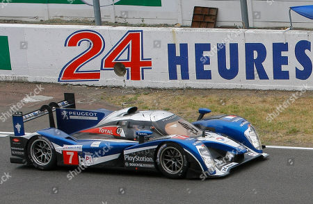 Anthony Davidson, Marc Gene, Alexander Wurz The Peugeot 908 No7 driven by british Anthony Davidson, Marc Gene from Spain and Alexander Wurz of Austria in action during the 79th 24-hour Le Mans endurance race, in Le Mans, western France