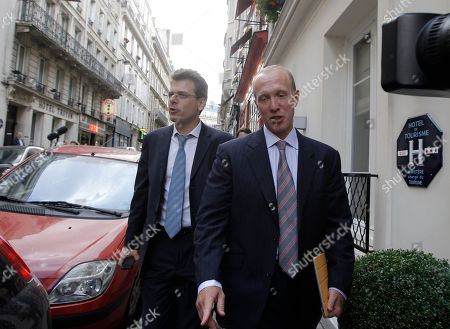 Douglas Wigdor, Thibault de Montbrial Nafissatou Diallo's U.S. attorney Douglas Wigdor, right, and French lawyer Thibault de Montbrial walk before a meeting, in Paris, . France's Socialists are lauding a move by New York prosecutors to drop their attempted rape case against prominent party figure Dominique Strauss-Kahn, after a stormy two months for the ex-IMF chief that upended the French presidential race