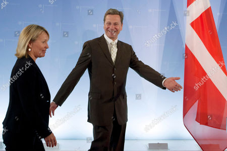 Lene Espersen, Guido Westerwelle Denmark's Foreign Minister Lene Espersen, left, and her German counterpart Guido Westerwelle arrive for a news conference after a meeting at the Foreign Ministry in Berlin on