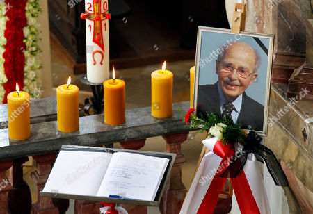 Otto von Habsburg A condolence book is placed next to the coffin of Archduke Otto von Habsburg in the St. Ulrich chapel Poecking near Starnberg, southern Germany, on . The oldest son of Austria-Hungary's last emperor and longtime head of one of Europe's most influential families has died at age 98. Born on Nov. 20, 1912, Habsburg witnessed the family's decline after the Habsburgs were forced into exile following World War I. Habsburg settled in Poecking in the 1950s and went on to become a member of the European parliament for Bavaria's conservative Christian Social Union