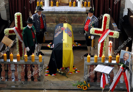 Otto von Habsburg The coffin of Archduke Otto von Habsburg is placed in the St. Ulrich chapel Poecking near Starnberg, southern Germany, on . The oldest son of Austria-Hungary's last emperor and longtime head of one of Europe's most influential families has died at age 98. Born on Nov. 20, 1912, Habsburg witnessed the family's decline after the Habsburgs were forced into exile following World War I. Habsburg settled in Poecking in the 1950s and went on to become a member of the European parliament for Bavaria's conservative Christian Social Union