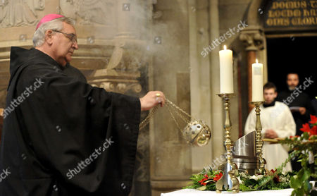 Astrik Varszegi Bishop Astrik Varszegi blesses the heart urn of Otto von Habsburg during the requiem at the Basilica of the Pannonhalma Abbey, in Pannonhalma, Hungary, . The oldest son of Austria-Hungary's last emperor and longtime head of one of Europe's most influential families died at age 98 on July 4. Otto von Habsburg was buried in Vienna, Austria, while his heart has been placed in Pannonhalma, Hungary