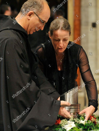 Father Ciril, Gabriella von Habsburg Father Ciril, left, and Gabriella von Habsburg, right, place the heart urn of Otto von Habsburg before a requiem in the Basilica of the Pannonhalma Abbey, in Pannonhalma, Hungary, . The oldest son of Austria-Hungary's last emperor and longtime head of one of Europe's most influential families has died at age 98 on July 4. Otto von Habsburg was buried in Vienna, Austria, while his heart has been placed in Pannonhalma, Hungary