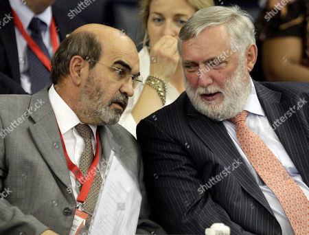 Jose Graziano da Silva, Franz Fischler Candidates for the post of Food and Agriculture Organization Director-General Chief, Jose Graziano da Silva, of Brazil, left, and Franz Fischler, of Austria, talk during a session of the 37th FAO Conference in Rome, . Representatives at the FAO vote this weekend to give the largest U.N. agency its first new chief in almost two decades, an election that comes at a time of critically high food prices and malnutrition across the world