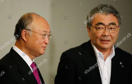 Toshio Nishizawa, Yukiya Amano Toshio Nishizawa, president of Tokyo Electric Power Co. (TEPCO), right, greets Yukiya Amano, director general of the International Atomic Energy Agency (IAEA), at TEPCO headquarters in Tokyo . Amano held talks with Nishizawa and TEPCO's Chairman Tsunehisa Katsumata