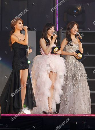Girls Generation, Sooyoung, Tiffany, Yuri South Korean pops group Girls Generation members, from left, Sooyoung, Tiffany, and Yuri, greet fans during the K-POP All star live concert in Niigata, northern Japan
