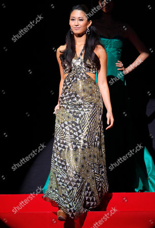 Maria Kamiyama Maria Kamiyama poses for the judges in an evening dress of her choice during the Miss Universe Japan beauty pageant in Tokyo, . The 24-year-old sales clerk from Osaka won the event and will represent Japan in the final selections scheduled for Sept. 12, 2011 in Sao Paulo, Brazil
