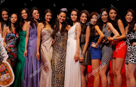 Maria Kamiyama, Hibiki Nozu, Michiko Tanaka Miss Universe Japan 2011 Maria Kamiyama, sixth from left, smiles with her runners-up, the first runner-up Hibiki Nozu, sixth from right, and the second runner-up Michiko Tanaka, fifth from left, and other contestants after the final contest of Miss Universe Japan 2011 in Tokyo