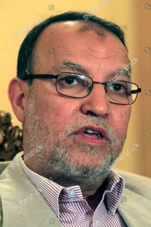 Essam el-Erian ADVANCE FOR USE AND THEREAFTER - In this Monday, May 16, 2011 picture, Essam el-Erian, deputy head of the Egyptian Muslim Brotherhood's new political party, speaks during an interview at the Muslim Brotherhood headquarters in Cairo, Egypt. El-Erian says there must be a period of several years of working with other parties to entrench a democratic system. Once forced underground, the Brotherhood is likely to be part of Egypt's new government, fueling fears of Islamic rule. But the Brotherhood's own identity is on the line, and there is pressure from inside and out for it not to go down a sharp-right Islamic road