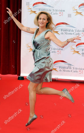 Stock Image of Alexandra Vandernoot Belgium actress Alexandra Vandernoot attends the opening ceremony of the 51st Monte Carlo Television festival in Monaco
