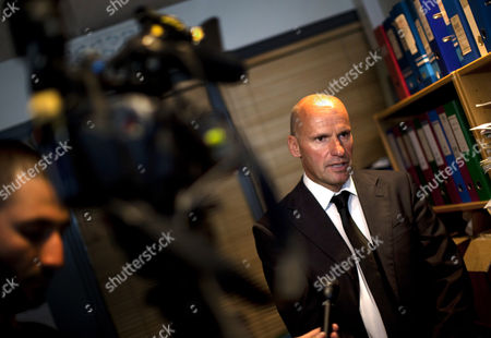 Geir Lippestad, defense lawyer for Anders Behring Breivik, speaks during an interview in Oslo, Norway. Lippestad said Tuesday his client's case suggests he is insane, adding that someone has to take the job of defending him but that he will not take instructions from his client. Lippestad also told reporters that the suspect in the bombing on the capital and the brutal attack on a youth camp that killed at least 76 people is not aware of the death toll or of the public's response to the massacre that has rocked the country