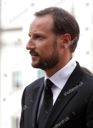 Prince Haakon Norway's Crown Prince Haakon arrives for a memorial to honor the victims of the July 22 bombing and shooting massacre, at the parliament in Oslo, . At the ceremony Monday, Parliament speaker Dag Terje Andersen read the names of the victims as lawmakers, Cabinet ministers, King Harald and Crown Prince Haakon stood in silence